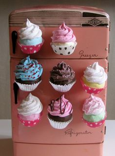 Cupcake refrigerator magnets, handmade USA, Ocean City, NJ