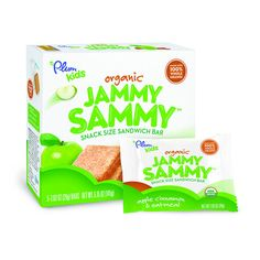 Plum Kids Organic Jammy Sammy has all the goodness of a sammy in a fun, snackable, packable sandwich bar. This soft baked sandwich is made with 100% Whole Grains and is filled with Organic Fruit Spread providing a great balance for sustained energy throughout the day. Each bar is individually wrapped and ready to go  a perfect school lunch or snack for when you've gotta jam.     Product Features:   Certified organic, Non-GMO ingredients   No high fructose corn syrup, trans fats, artificial…