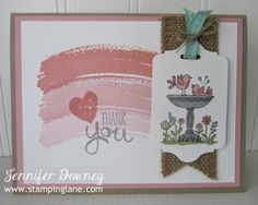 Stamping Lane: Creation Station with For The Birds Love Stamps, Beautiful Handmade Cards, Bird Cards, Cool Cards, Homemade Cards, Stampin Up Cards, Thank You Cards, Card Making, Greeting Cards