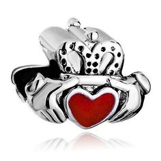 Pugster Claddagh Bead  Large Hole  Fits by MURPHYSTREASURES, $3.95