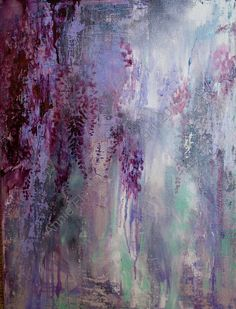Impromptu Wisteria in Deep Violet by annieflynn1 on Etsy