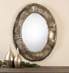 Add a dramatic touch to your decor with this captivating wall mirror. Vevila Oval Mirror by Uttermost #wallmirror #ovalmirror #homedecorlove #interiordesigninspiration #homedecor #homeaccessories #homedecorating #homedecorshopping #homeaccents  $492.80  ➤ http://bit.ly/2tBtgR8