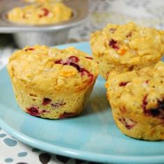 Cranberry Sweet Potato Cottage Cheese Muffins - Fitnessmagazine.com