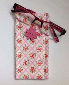 Cath Kidston Antique Rose Fabric Glasses Case  by sewmoira on Etsy