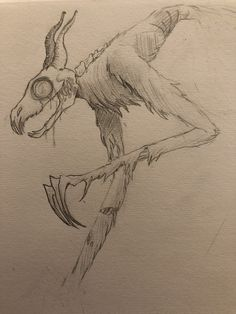 An old wendigo sketch I just found twicespooked Creepy Sketches, Scary Drawings, Demon Drawings, Dark Art Drawings, Creature Drawings, Art Sketches, Cute Animal Drawings, Monster Sketch, Monster Drawing