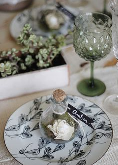 DIY Terrarium escort card | by Kelli Murray
