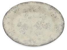 Giulietta Oval Platter — fête Round Tray, Fine China, Serving Bowls, Floral Design, Ceramics, Handmade, Platter, Home Decor, Collection