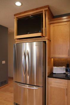 put TV over fridge?