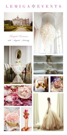 Fairytale Romance Inspiration Board from Lemiga Events' Dream Wedding Style Quiz