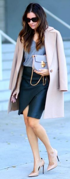 Cozy Woolen Fashion Ideas For Women (26) love this look for work  Color combination.  Shoe color  so versatile
