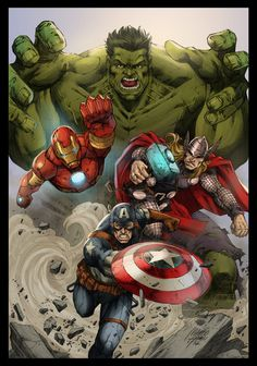 #Avengers #Fan #Art. (Commission Avengers Colors) By: MARCIOABREU7. ÅWESOMENESS!!!™
