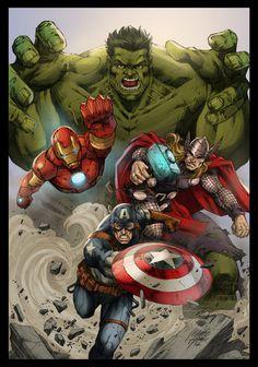 #Avengers #Fan #Art. (Commission Avengers Colors) By: MARCIOABREU7. ÅWESOMENESS!!!™