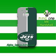 New York Jets Style Striped HTC One M8 Case Cover Hardshell