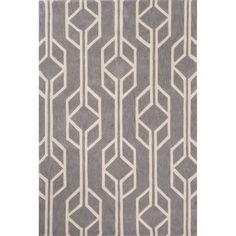 Found it at Wayfair - Fusion Polyester Hand Tufted Gray Area Rug
