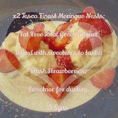 Meringues with Yogurt & Strawberries