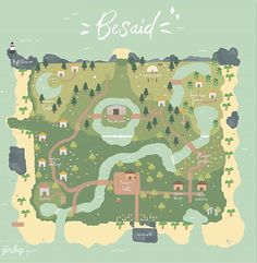 Here is my future Ac map! Yeah I know there aren't flowers, trees and houses standing in a row and everything doesn't look that clean but… Animal Crossing Guide, Animal Crossing Pocket Camp, Map Layout, Island Map, Map Design, Design Web, Graphic Design, Island Design, Like Animals