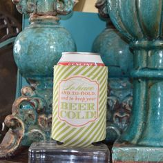 """Full Color Personalized """"To Have & To Hold"""" Koozies by Gracious Bridal. make a fun and functional favor for weddings, engagement parties and rehearsal dinners. $4.15"""
