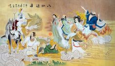 EIGHT IMMORTALS   Chinese the Eight Immortals Painting