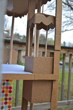 ikat bag: Cardboard Barbie House...with working elevator