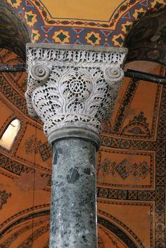 Columns of grey granite were quarried in Egypt. Hagia Sophia Column | by Banksfam Hagia Sophia Column | by Banksfam
