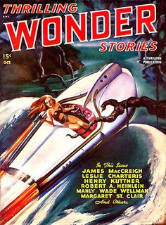 """""""Thrilling Wonder Stories"""" (Oct 19XX) featuring Henry Kuttner among others."""