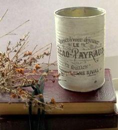 rustic Wedding centerpiece tin shabby advertisement by 0namesleft, $9.00