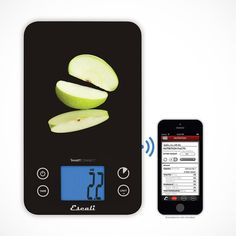 This digital scale works with the SmartConnect app, free to download, and connects to your mobile device with Bluetooth Low Energy technology. Simply press the pair button in the app for an instant connection. SmartConnect sends weight measurements to the SmartConnect app, where it can analyze 35 nutrients from a selection of over 8,000 food items! The Escali SmartConnect app is currently compatible with Apple iPhone (4S,5, 5S, 5C), iPad (3rd & 4th gen.), iPad Mini, iPod Touch (5th gen.) and…