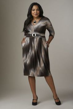 Ombre Dress  from Monroe and Main. Fashion Fit For You in Misses  Plus Sizes. www.monroeandmain.com
