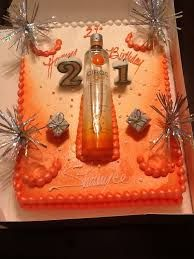 Ciroc Cake 25th Birthday Cakes, Birthday Cakes For Women, 24th Birthday, Birthday Ideas, Party Treats, Party Cakes, Tequila Cake, Liquor Cake, Alcohol Cake
