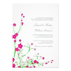 ShoppingPink and Green Floral Vines Wedding Invitationslowest price for you. In addition you can compare price with another store and read helpful reviews. Buy