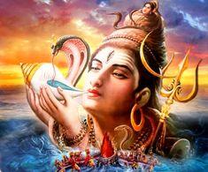 India Vintage Calendar Print Hindu God Neelkanth Shiva with Poison Shiva Art, Shiva Shakti, Hindu Art, Lord Shiva Hd Images, Hindu Deities, Hinduism, Amai, Indian Gods, India