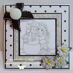 Winter Christmas, Christmas Cards, Holiday, Hobby House, Snowball, Frame, Sweet, Girls, Inspiration