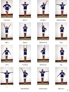 #Cheerleading Arm Motions | cheer motions and jumps More
