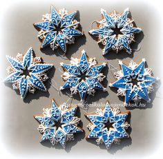 Blue Christmas, Christmas Baking, All Things Christmas, Christmas Cookies, Christmas Holidays, Christmas Crafts, Christmas Ornaments, Xmas, Snowflake Cookies