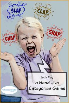 Snap! Clap! Can you keep up? Clapping games are a great way to get blind kids involved in social play!