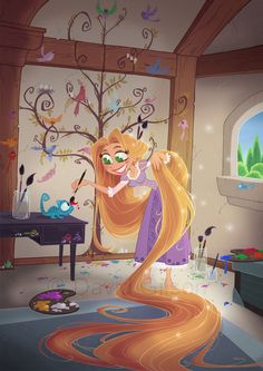 Rapunzel by David Gilson His art works are great!!! They deserves their own board!!!