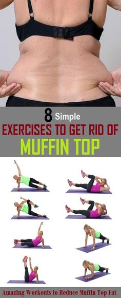 babbdb28a7 8 Most Effective Exercises to Get Rid of Muffin Top Side Fat Workout