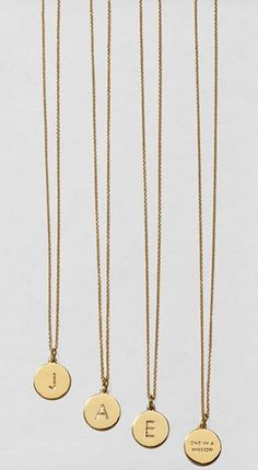 Initial pendant necklaces: Cute gift idea for bridesmaids!