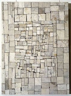 Rosalie Gascoigne - White Out, 1994 - sawn wood on craftboard - 82 × 59cm