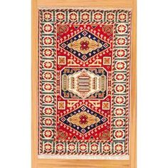 Indo Hand-knotted 3 x 5-foot Red/ Navy Kazak Wool Rug (India) | Overstock.com Shopping - Great Deals on 3x5 - 4x6 Rugs