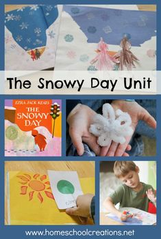 The Snowy Day Unit - borax snowflakes, Snowy Day art, comparing shapes, and more.