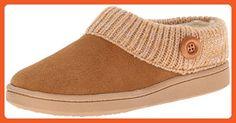 Clarks Women's Knit Scuff Slipper Mule,Cinnamon,5 M US - Mules and clogs for women (*Amazon Partner-Link)