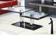 Konferenčný stolík Gabriel a jeho dizajn je navrhnutý tak, aby sa hodil do každého moderného priestoru. Lesklé ocelové nohy v tvare hranola držia odkladacie plochy z tvrdeného číreho skla. Sú olemované čiernym pásikom, čím sa dokonale hodia k čiernemu podstavcu. Odkladacie plochy sú v dvoch výškových úrovniach a dodávajú stolíku jedinečnosť.