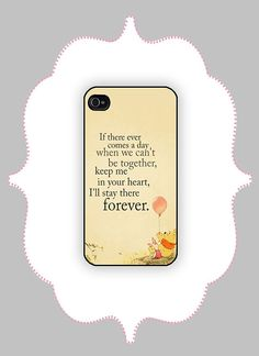 iPhone Case- Pooh Quote - iPhone 4/4s, iPhone 5/5s/5c Case on Etsy, $16.99