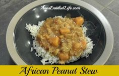 African Chicken Peanut Stew - low sodium, low sugar, yet high in taste! Side Dish Recipes, Lunch Recipes, Soup Recipes, Chicken Recipes, Cooking Recipes, Delicious Recipes, Yummy Food, Low Sugar Recipes, No Sugar Foods