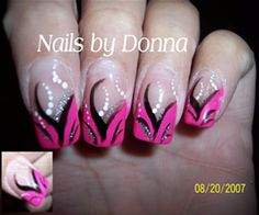 hot pink nail designs | Hot Pink French - Nail Art Archive - Style - NAILS Magazine