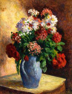 The Athenaeum - Vase of Wallflowers (Maximilien Luce - )