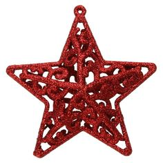 Christmas Tree Decoration Hollow Five-pointed Star Snowfake Flower Shape Glitter Ornament Hanging Christmas Tree Topper Decor