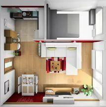 дизайн очень маленькой кухни фото.