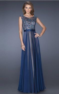 Chiffon Scoop Natural A-line Floor-length Evening Dresses abaa1010